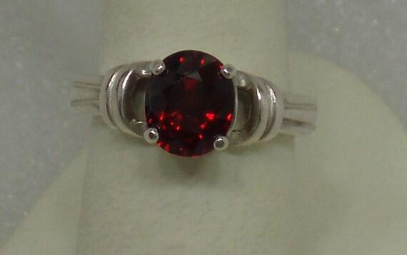 Beautiful Rasberry Rhodolite Garnet and Sterling Ring