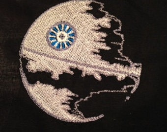Star Wars Death Star Machine Embroidery design