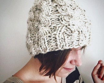 Cabled Chunky Skullcap Beanie