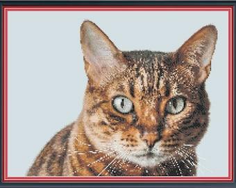 Tabatha Cat PDF Cross Stitch Pattern