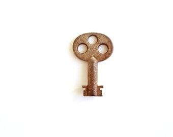 Old Key . barrel key . skeleton key . rusty metal industrial collection . keys steampunk supplies . industrial key . old key lock key 213