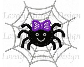 Halloween Spider web Applique Machine Embroidery Design NO:0569