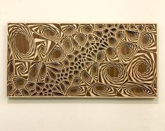 """Layered Wood: Wall Art (Maple and Walnut, 24"""" x 12"""")"""