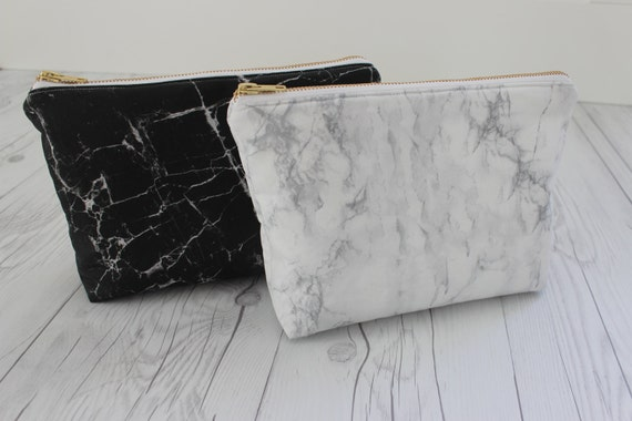 Marble Makeup Bag Marble Clutch Marble Toiletry Bag