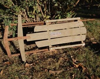 Vintage Wood Sled, 1960's Sled, Snow Sled, Child's Snow Sled, Christmas Decor, Home Decor, Craft Supply
