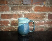 Mug: Large Coffee | Beer Stein - Ocean Blue