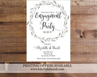 Engagement Invitations-Digital-5x7-Floral Wedding-Printable Invites-Engagement Printable File-Classic Engagement-038