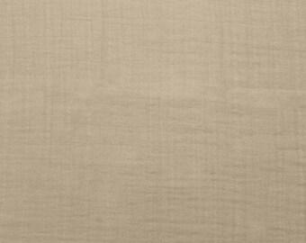 Sand Double Gauze, Shannon Fabrics Double Gauze, Beige fabric, Embrace Double Gauze Cotton Solid, Cotton Muslin Swaddle Fabric, 100% cotton