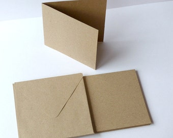 10 square notecards and envelopes set recycling paper strength paper