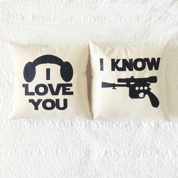 Han Solo May The Fourth Be With You: Star Wars I Love You/I Know Pillow Set Han Solo
