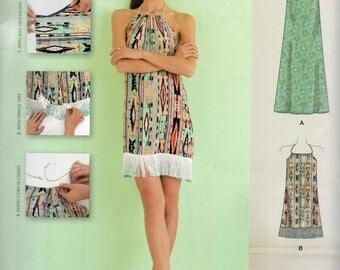 Simplicity Learn to Sew Pattern 8382 HALTER DRESS Misses Sizes  Xxs (4) - Xxl (26)