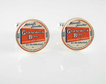 Vintage German Beer Cuff Links or Tie Clip