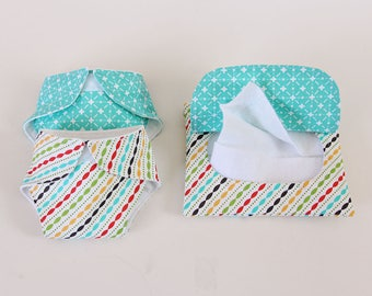 Doll Diapers & Wipes/Baby Doll Diapers/Doll Wipes/Pretend Wipes and Diapers