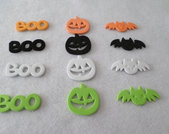 12 Halloween foam stickers, for embellishing, kids crafts, seasonal, holiday