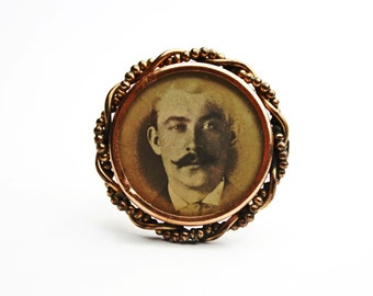 Victorian Photo Brooch Gold Filled 1800s
