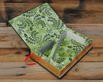 Book Safe - Jane Austen - 2 Compartment Leather Bound Hollow Book Safe