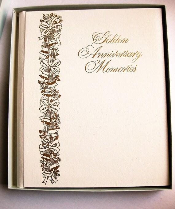 Golden Anniversary Memories album. 1977. Treasure Makers. 50th anniversary. Vintage album. Family parties. Guest book.