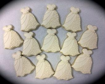Wedding Dress Cookies, Esty Wedding Cookies, Bride Dress Cookies, Groom Tux Cookies, Wedding Cookies, Bridal Shower Cookie Favors