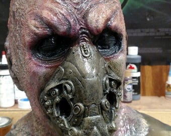 Made to Order Full head Latex Alien Space Mask Sith Lord