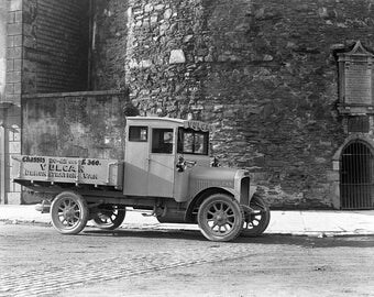 Vulcan Demonstration Van, Dublin, Ireland, 1924, 1920's Irish Pickup Truck