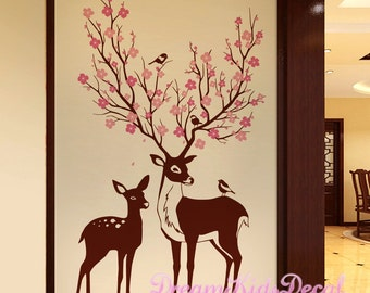 Genial Deer Wall Decal | Etsy