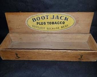 Vintage Boot Jack Tobacco Plug Wooden Display Box General Store Primitive & Wooden boot jack | Etsy Aboutintivar.Com