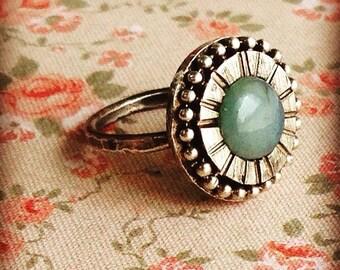 Silver rings with Swarovski stone.