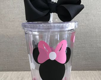 Minnie Mouse personalized acrylic tumbler -  Minnie Mouse cup