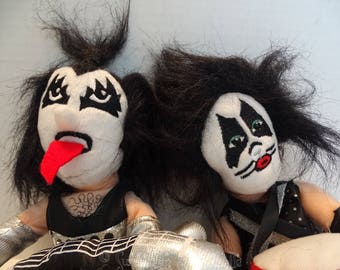 KISS Collectible Dolls Peter Criss Gene Simmons NWT RARE!