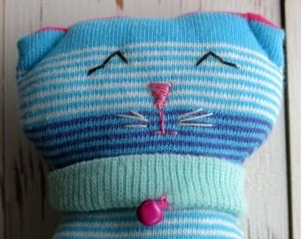 kitty - plushy animal - animal toy- softie- cuddly toy- sock cat- softie animal- soft toy- small children- plush- softie - softie kitten-uk