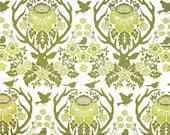 Extra 15% OFF 1 yard BIRCH FARM  Cotton by Joel Dewberry Free Spirit Westminster Fabric Antler Damask Sage