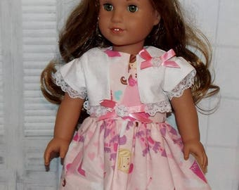 """American Made 18"""" Girl Doll Clothes.  """"Princess for a Day"""" Dress & Jacket.   Fits old and new dolls the same size as American Girl. Princess"""