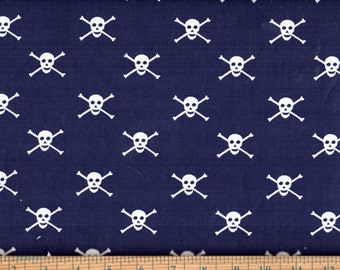 Dear Stella Skull and Crossbones 100% Cotton Quilting Fabric By the Yard #240