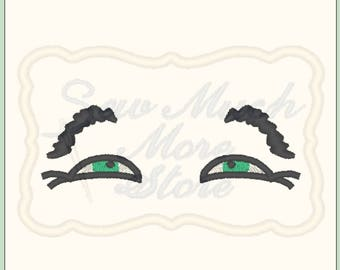 EYES #2 -  From The Silly Faces Collection - Machine Embroidery File - eyes - eyebrows - boy eyes - doll eyes - doll face - doll making