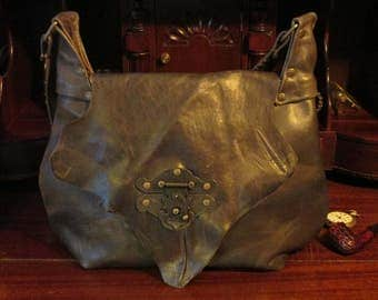 Steampunk Hasp Latch Shoulder Bag -- The Steampunk Oasis