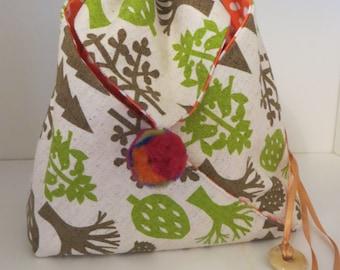 Drawstring Fabric Origami Bag