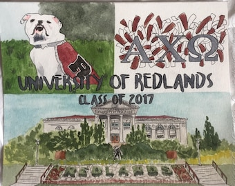 Custom Watercolor Collage College/High School Graduation Gift