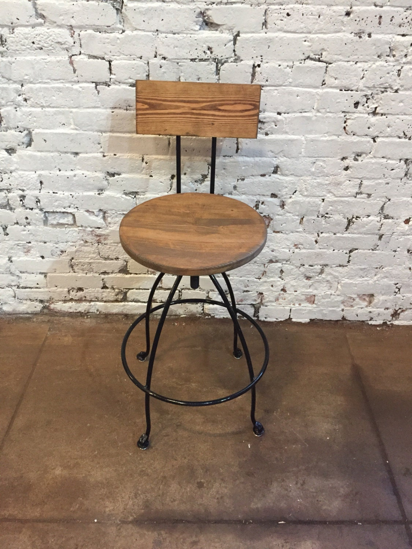 Swivel Bar Stools Steel Wood Counter Breakfast Bar Stools