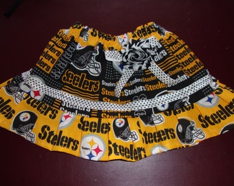 Girl's Skirt Size Newborn to 5T NFL Pittsburgh Steelers Skirt