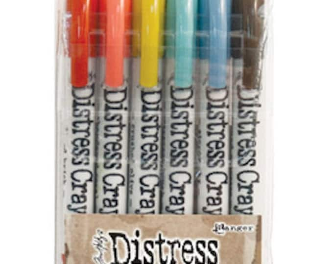 Ranger Tim Holtz Distress Crayons - Set # 7 - Water Reactive Pigments - 6 New Colors!