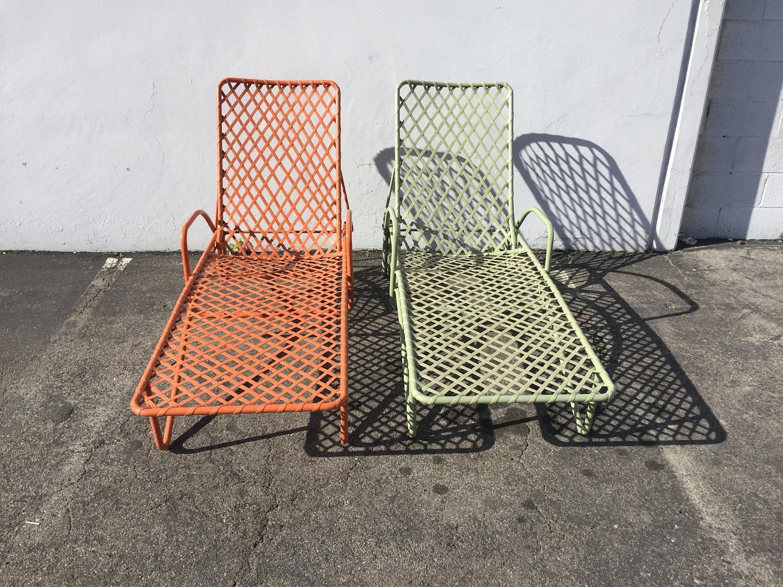 2 brown jordan tamiami adjustable chaise lounge pool patio for Brown jordan tamiami chaise