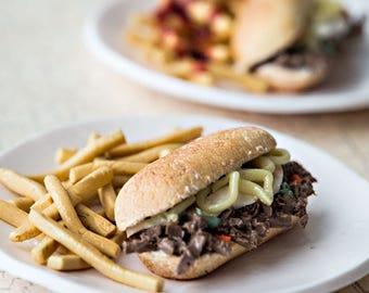 1:6 miniature - Italian Beef Sandwich, Fries
