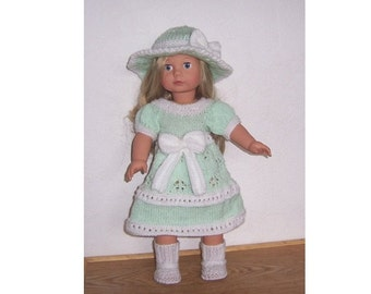 "American Girl PDF knitting pattern for 18"" doll,  also fits Gotz, and similar size dolls."