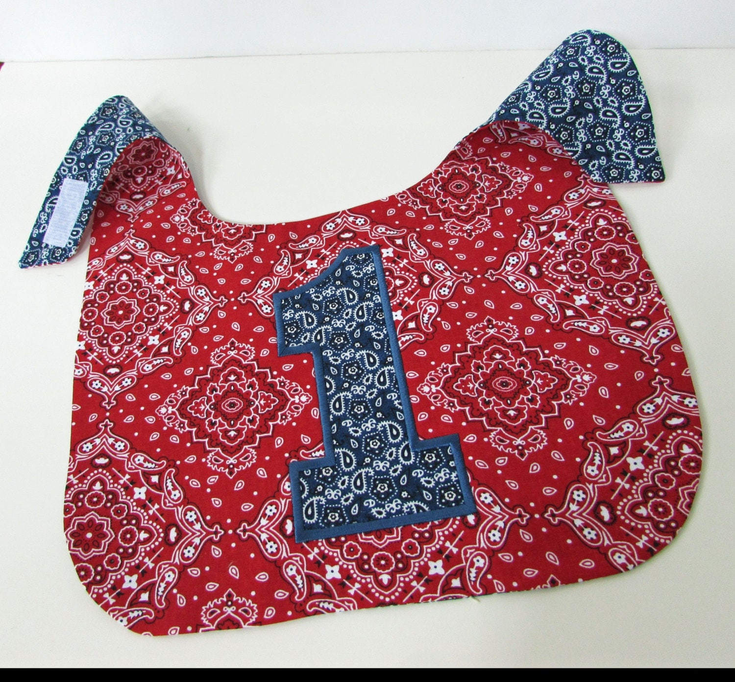 Boys Cowboy Cake Smash bib Baby Boy Bib Cowboy Bib Red Blue