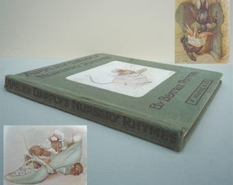 Beatrix Potter 1st Edition Appley Dapply's Nursery Rhymes Book, 1917