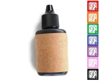 Refill Ink- .25 oz- For Self-Inking Stamp- Black, Red, Orange, Green, Blue, Purple, Pink