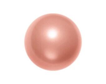Rose Peach,3mm Swarovski Crystal Pearl,(5810) pkg of 50