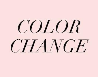Invitation Color Change