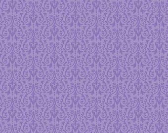 Riley Blake Designs - Ghouls Damask Purple - C5305-PURPLE