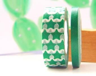 Washi tape set, Green deco tape, Ducktape Stars, Mix&match washi tape